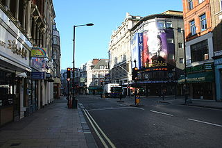 Shaftesbury Avenue major street in the West End of London
