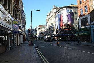 Shaftesbury Avenue - Shaftesbury Avenue early on a Saturday morning, in 2006