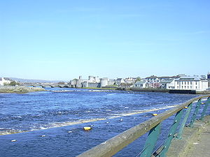 The River Shannon. (In the centre of the pictu...