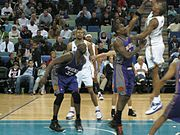 Shaquille O'Neal as a member of the Suns against the New Orleans Hornets, February 27 2008