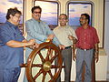 Shatrughan Sinha with NCSM and KPT Dignitaries - Maritime Centre Inauguration - Science City - Kolkata 2003-10-17 00476.JPG