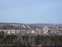 City of Shawinigan from across the river