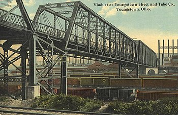 Description: Postcard of Youngstown Sheet & Tu...