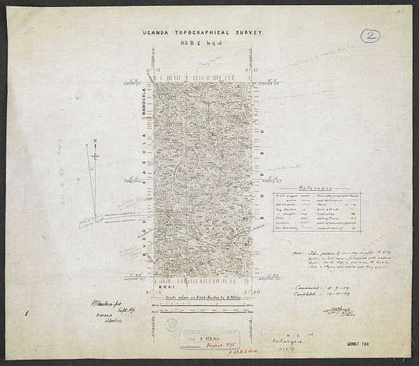 600px sheet south a 36 b   war office ledger.uganda topographical survey. %28woos 13 7 2%29