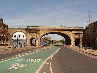 Wicker (Sheffield) - The arches on Wicker