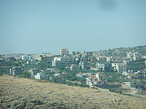 Shuqba - Roadside view of Shuqba, 2012