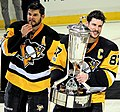Sidney Crosby and Chris Kunitz with Prince of Wales Trophy 2017-05-25 2.jpg