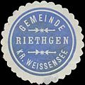 Siegelmarke Gemeinde Riethgen W0328267.jpg
