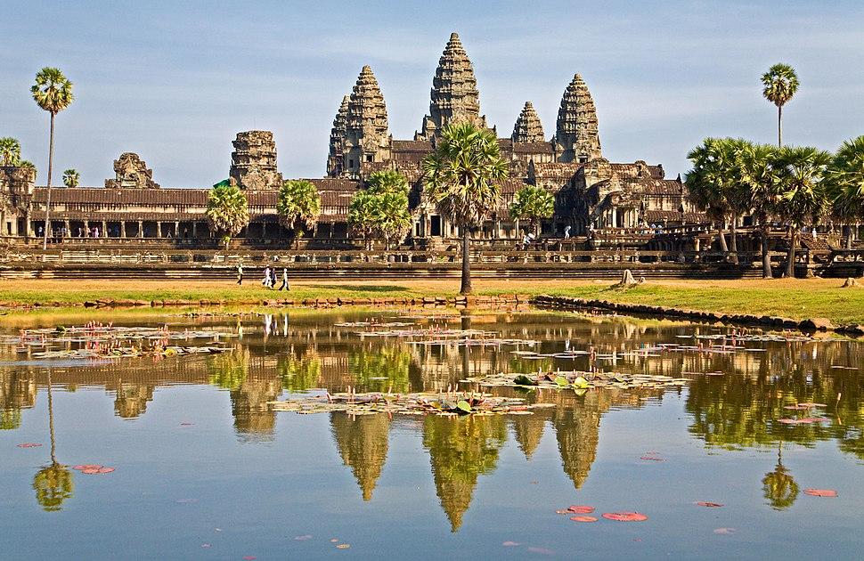 Siem Reap Reflections (CAMBODIA-REFLECTION-ANGKOR WAT) VI (1070423631)