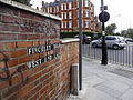 Sign on wall near bridge over railway line, Broadhurst Gardens, NW6 - geograph.org.uk - 1258005.jpg