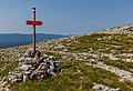 Sign pointing to Hahlić, Risnjak National Park, Croatia.jpg