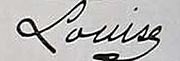 Signature of Princess Louise of Orléans Princess Louise of the Two Sicillies.jpg