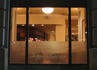 Jack Abramoff - Jack Abramoff's now-closed Signatures restaurant, in the Penn Quarter neighborhood of Washington, D.C.