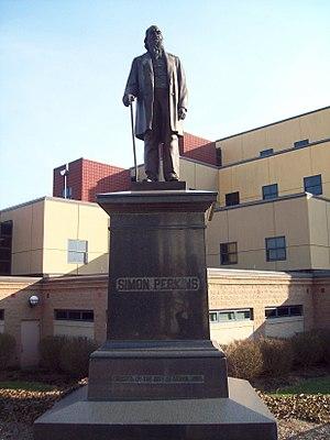 Colonel Simon Perkins - Statue of Colonel Simon Perkins in Akron.