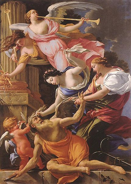 ファイル:Simon Vouet - Saturn, Conquered by Amor, Venus and Hope - WGA25377.jpg