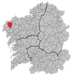 Location of Vimianzo within Galicia