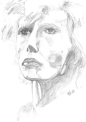 second drawing of my hero David Bowie