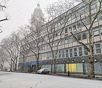 Skempton Building, Imperial College Road towards Queen's Lawn in snow.jpg