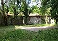 Skofja Loka Slovenia - Castle Wall 3 Mass Grave.JPG