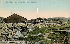 Fair Haven, Vermont - Image: Slate Quarry and Mills, Fair Haven, VT