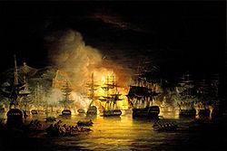 Bombardement d Alger commandé par Lord Exmouth, août 1816