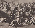 Prise de la smala d Abd El Kader par le duc d Aumale : le colonel Morris chargeant à la tête du 4 régiment de chasseurs d Afrique.