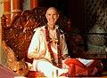 Smita Krishna Swami giving SB class in Vrindavan.JPG