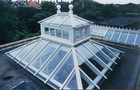 Contemporary roof lantern - exterior view.