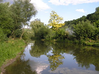 Smotrych River - The Smotrych River seen near the historic city of Kamianets-Podilskyi, Ukraine.