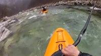 File:Soca creek Kayak, Slovenia 18-3-12.webm