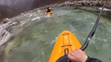 File:Soca creek Kayak, Slovenia 18-3-12.webm