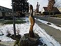 Socha Volavka na náměstí v Lánech (Q107164549).jpg