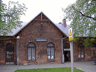 railway station in Sochaczew, Poland