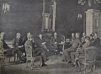 Grigori Sokolnikov - Grigori Sokolnikov, People's Commissar for Finance of the USSR, marked (1) negotiates in Berlin Sep 1923