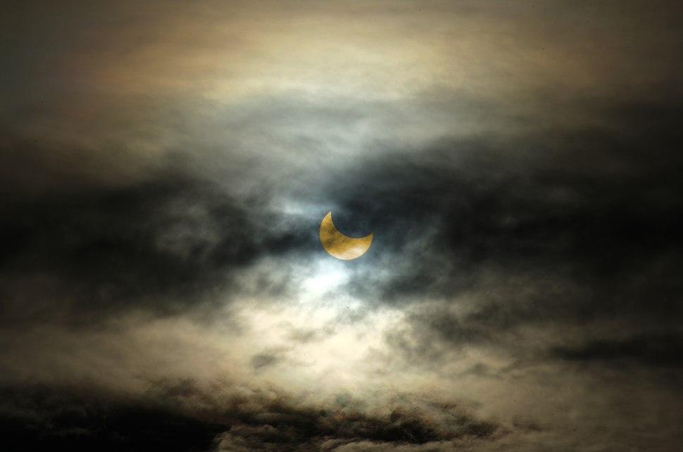 Solar eclipse of October 23, 2014 in Denver