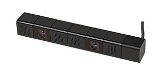 PlayStation Camera motion sensor and camera accessory for the PlayStation 4 developed by Sony Interactive Entertainment