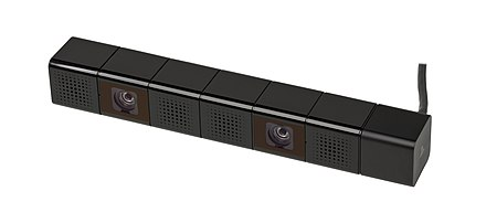The PlayStation 4 Camera, which is required for use with the PS VR. Sony-PlayStation-4-Camera-Mk1.jpg