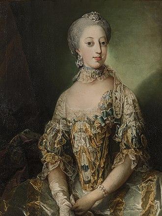 Sophia Magdalena of Denmark - Portrait by Carl Gustaf Pilo, c. 1765