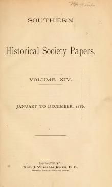 Southern Historical Society Papers volume 14.djvu