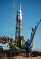 Soyuz TMA-09M spacecraft at the Baikonur Cosmodrome launch pad (3).jpg