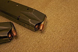 Overpressure ammunition - Image: Speer 9mm +P