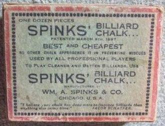 William A. Spinks - Image: Spinks Billiard Chalk box top ca 1900