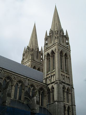 Truro Cathedral - The two western towers