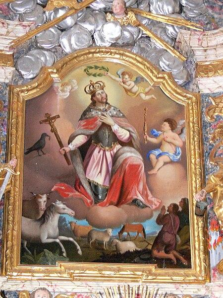 File:St.Oswald Kirche - Hochaltar Altarbild St.Oswald.jpg