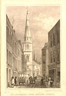 St Antholin, Budge Row Church in London
