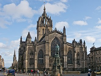 St Giles' Cathedral - The west façade of the building