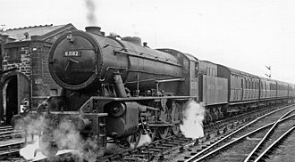 Piershill - Train near St Margaret's Locomotive Depot, Piershill