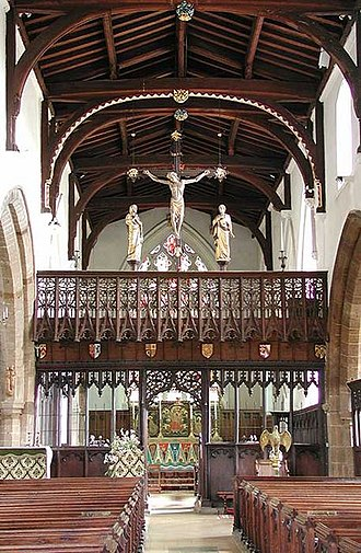 St Mary's Church, Higham Ferrers - The nave, screen and high altar