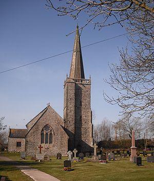 Nash, Newport - Image: St Marys Nash