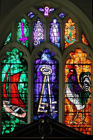 Babraham - Church East window by John Piper